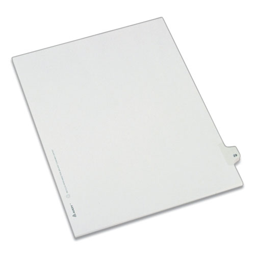 PREPRINTED LEGAL EXHIBIT SIDE TAB INDEX DIVIDERS, ALLSTATE STYLE, 10-TAB, 29, 11 X 8.5, WHITE, 25/PACK