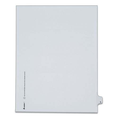 PREPRINTED LEGAL EXHIBIT SIDE TAB INDEX DIVIDERS, ALLSTATE STYLE, 10-TAB, 3, 11 X 8.5, WHITE, 25/PACK