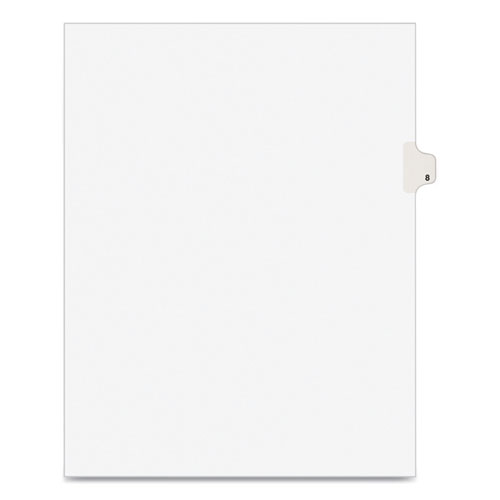 PREPRINTED LEGAL EXHIBIT SIDE TAB INDEX DIVIDERS, AVERY STYLE, 10-TAB, 8, 11 X 8.5, WHITE, 25/PACK
