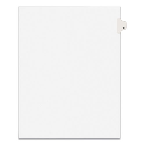 PREPRINTED LEGAL EXHIBIT SIDE TAB INDEX DIVIDERS, AVERY STYLE, 26-TAB, C, 11 X 8.5, WHITE, 25/PACK