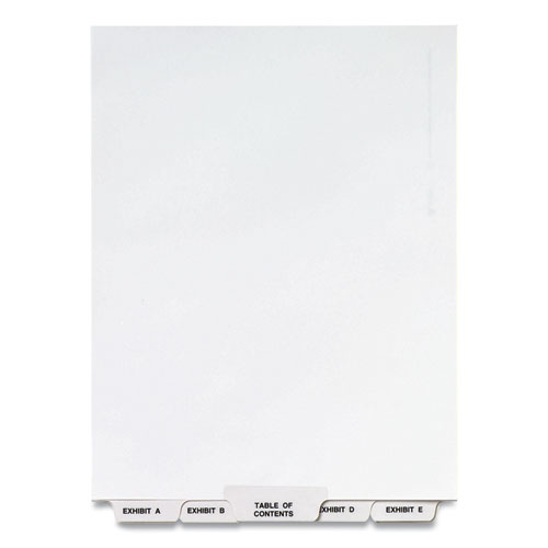 PREPRINTED LEGAL EXHIBIT BOTTOM TAB INDEX DIVIDERS, AVERY STYLE, 27-TAB, EXHIBIT A TO EXHIBIT Z, 11 X 8.5, WHITE, 1 SET