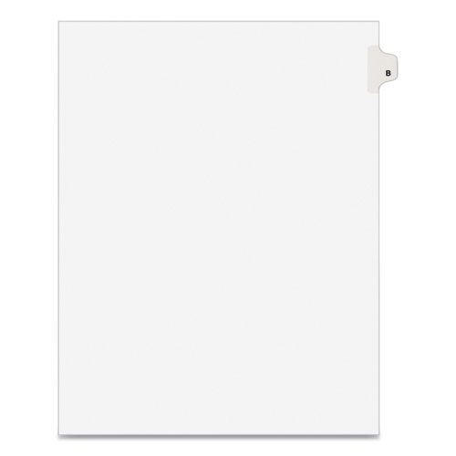 PREPRINTED LEGAL EXHIBIT SIDE TAB INDEX DIVIDERS, AVERY STYLE, 26-TAB, B, 11 X 8.5, WHITE, 25/PACK