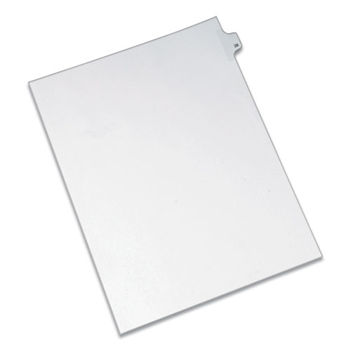 PREPRINTED LEGAL EXHIBIT SIDE TAB INDEX DIVIDERS, ALLSTATE STYLE, 10-TAB, 28, 11 X 8.5, WHITE, 25/PACK