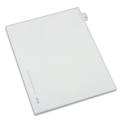 PREPRINTED LEGAL EXHIBIT SIDE TAB INDEX DIVIDERS, ALLSTATE STYLE, 10-TAB, 23, 11 X 8.5, WHITE, 25/PACK