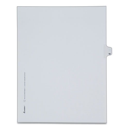 PREPRINTED LEGAL EXHIBIT SIDE TAB INDEX DIVIDERS, ALLSTATE STYLE, 10-TAB, 16, 11 X 8.5, WHITE, 25/PACK