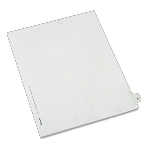 PREPRINTED LEGAL EXHIBIT SIDE TAB INDEX DIVIDERS, ALLSTATE STYLE, 10-TAB, 27, 11 X 8.5, WHITE, 25/PACK