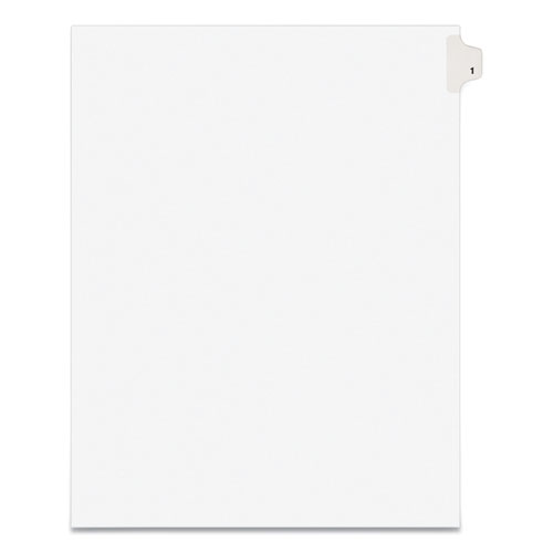 PREPRINTED LEGAL EXHIBIT SIDE TAB INDEX DIVIDERS, AVERY STYLE, 10-TAB, 1, 11 X 8.5, WHITE, 25/PACK