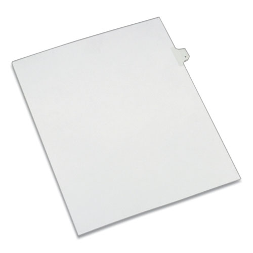 PREPRINTED LEGAL EXHIBIT SIDE TAB INDEX DIVIDERS, ALLSTATE STYLE, 10-TAB, 7, 11 X 8.5, WHITE, 25/PACK