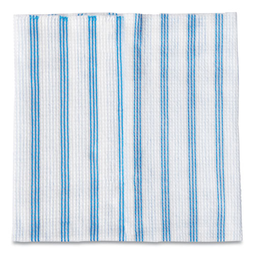 DISPOSABLE MICROFIBER CLEANING CLOTHS, BLUE/WHITE STRIPES, 12 X 12, 600/PACK