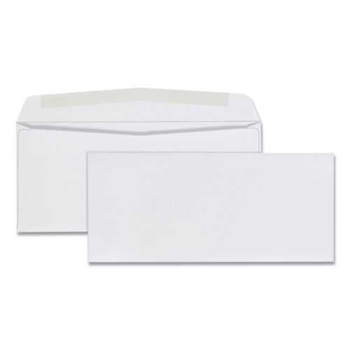 BUSINESS ENVELOPE, #9, COMMERCIAL FLAP, GUMMED CLOSURE, 3.88 X 8.88, WHITE, 500/BOX