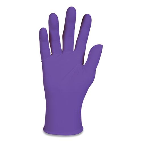 Purple Nitrile Exam Gloves, 242 Mm Length, Large, Purple, 100/box