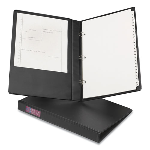 LEGAL DURABLE NON-VIEW BINDER WITH ROUND RINGS, 3 RINGS, 1