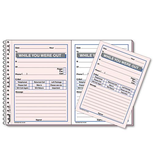 Desk Saver Line Wirebound Message Book, 5 1/2 X 4, Two-Part, 100 Sets/book