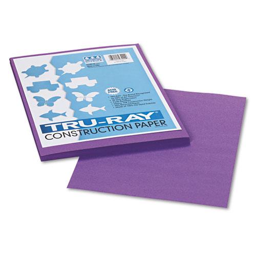 TRU-RAY CONSTRUCTION PAPER, 76LB, 9 X 12, VIOLET, 50/PACK