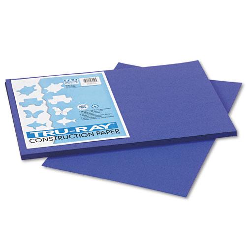 TRU-RAY CONSTRUCTION PAPER, 76LB, 12 X 18, ROYAL BLUE, 50/PACK