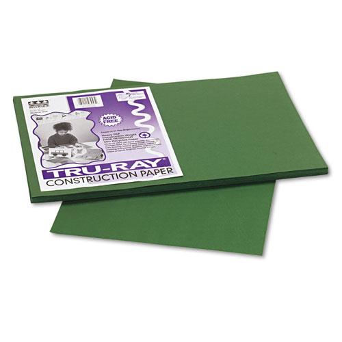 TRU-RAY CONSTRUCTION PAPER, 76LB, 12 X 18, DARK GREEN, 50/PACK