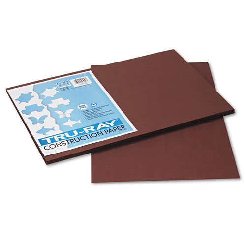 TRU-RAY CONSTRUCTION PAPER, 76LB, 12 X 18, DARK BROWN, 50/PACK
