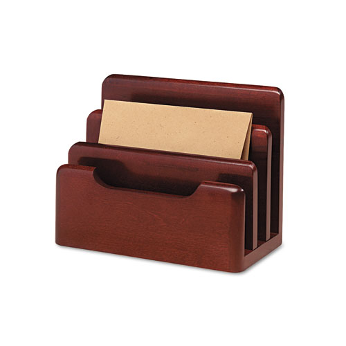 WOOD TONES DESKTOP SORTER, 3 SECTIONS, LETTER TO LEGAL SIZE FILES, 7.13
