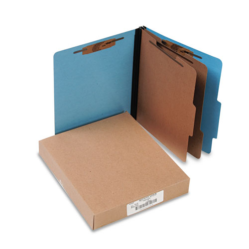 COLORLIFE PRESSTEX CLASSIFICATION FOLDERS, 2 DIVIDERS, LETTER SIZE, LIGHT BLUE, 10/BOX