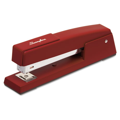 747 Classic Full Strip Stapler, 20-Sheet Capacity, Lipstick Red