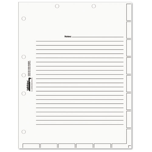 MEDICAL CHART INDEX DIVIDER SHEETS, 11 X 8.5, WHITE, 400/BOX