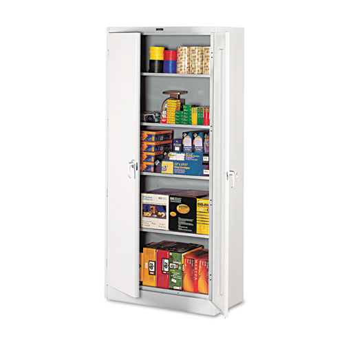 Image for 78' High Deluxe Cabinet, 36w X 18d X 78h, Light Gray