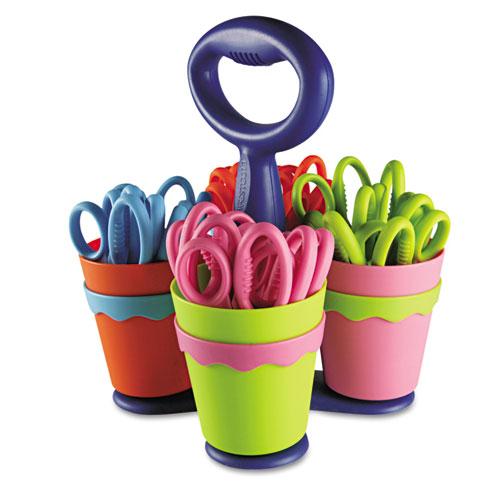 School Scissors Caddy W/24 Pairs Of Kids' Scissors W/microban, 5